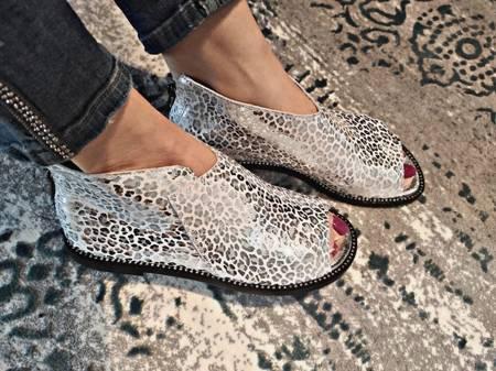 Nowość Włoskie sandałki Silver Leopard 1520004LL