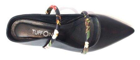 Tuffoni włoskie skórzane sandały Black 1620006LL