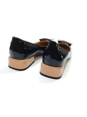 Włoskie czółeneka1221017TL Black Taupe Tuffoni