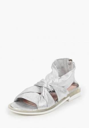 Włoskie skórzane sandałki 1520109LL SILVER